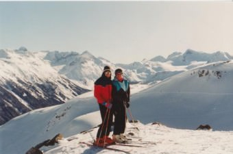Skiing together in the early years