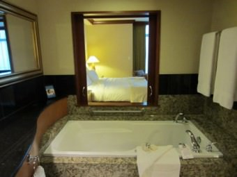 Fairmont Vancouver Airport Hotel - marble baths, jetted tubs
