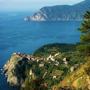 View of Corniglia on Italy's Cinque Terre