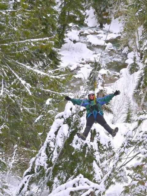 Jill takes a Ziptrek Ecotour at Whistler