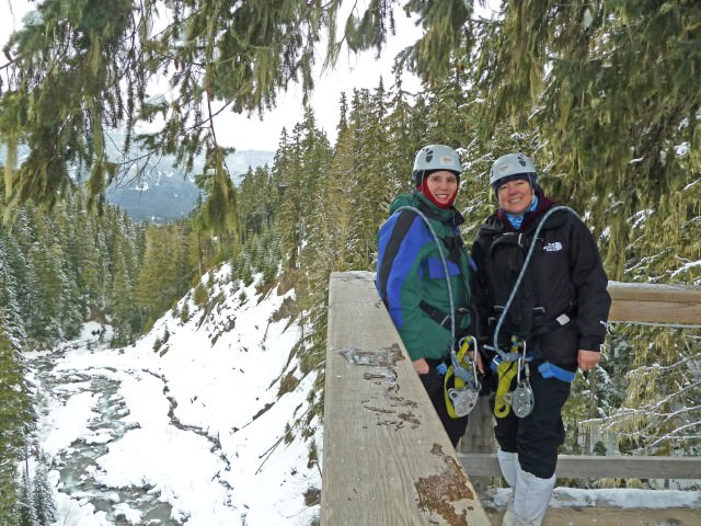 Jill and Viv - Ziptrek Ecotour Whistler
