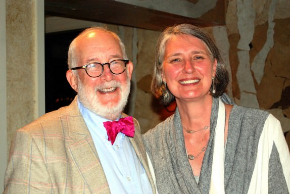 Canadian author, Louise Penny, with her husband, Michael.