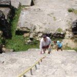 Climbing Lamanai Maya Ruins