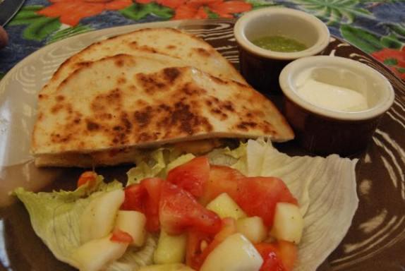 Lunch - Shrimp Quesadilla