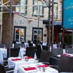 Terrace at Auberge Louis Hebert in Quebec City