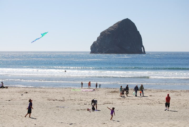 Haystack Rock At Pacific City