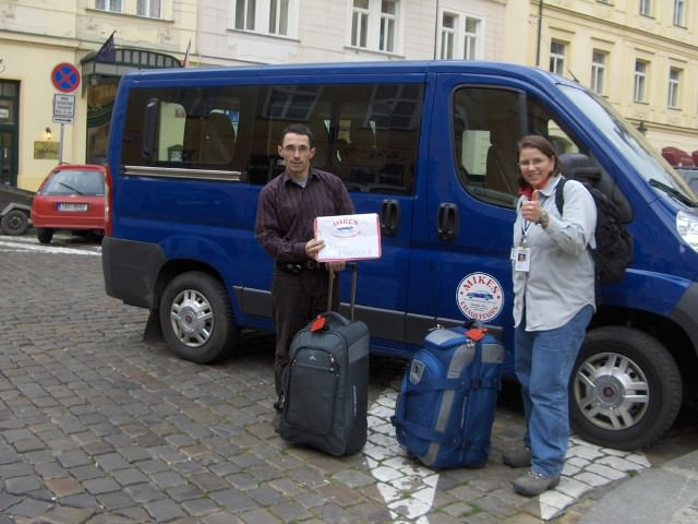 Jill with Mike from Mike's Chauffeur Service in Prague