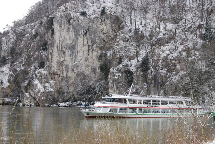 Ferry to Weltenburg Abbey in Bavaria, Germany
