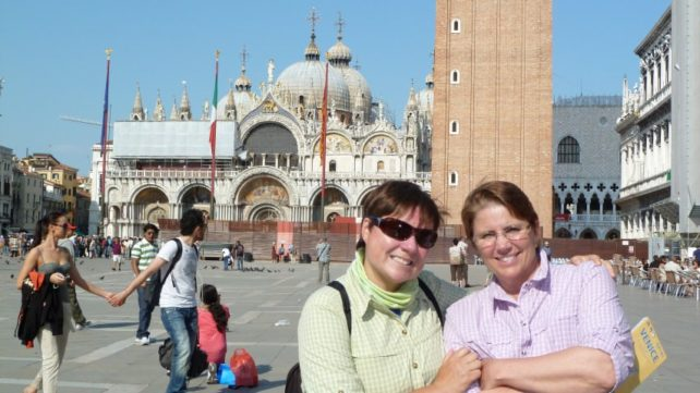 Viv and Jill in Venice, Italy