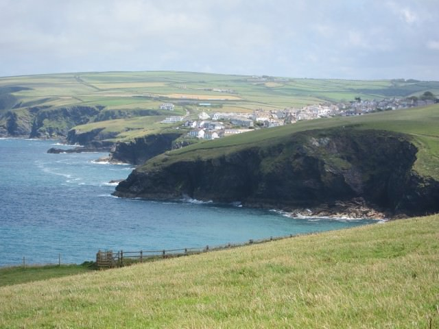 Southwest Coastal Path in Cornwall, England