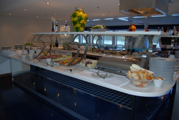 Uniworld River Royale Cezanne Restaurant Lunch Buffet