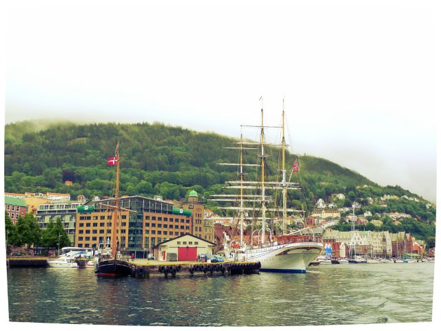 View of Bergen from MS White Lady