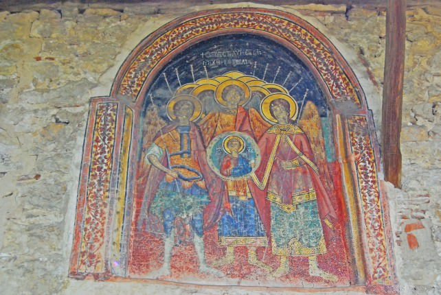 The Church of the Archangels Michael and Gabriel Fresco