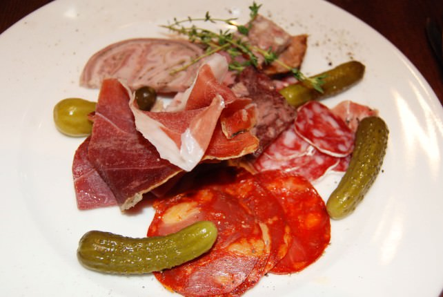 Cold Cuts Starter at La Brasserie Bordelaise