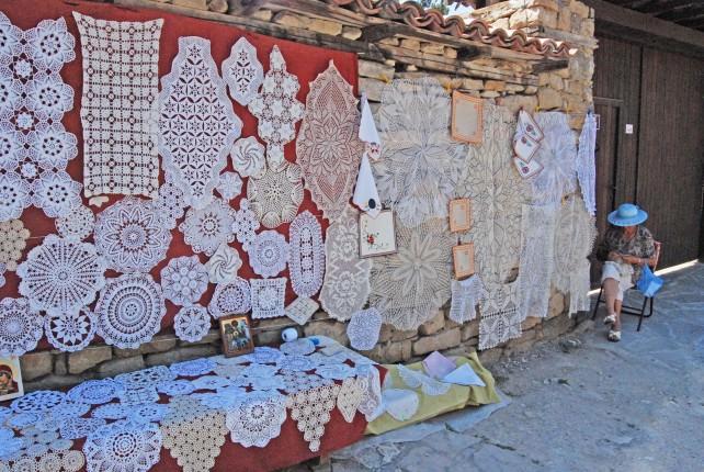 Crocheted Souvenirs in Arbanassi, Bulgaria