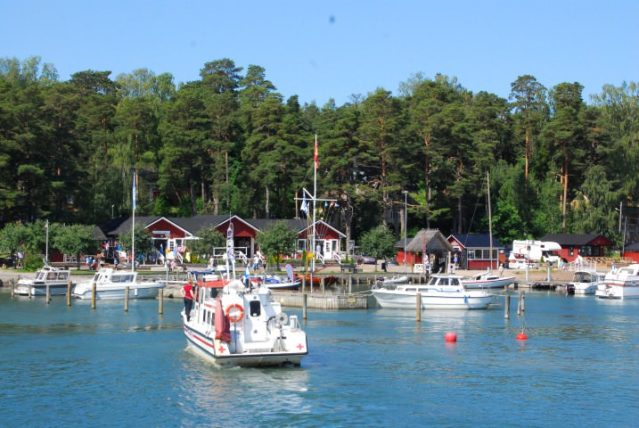 Harbor in Nagu/Nauvo in Finland