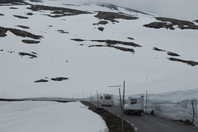 Driving Through the Jotunheimen Mountains
