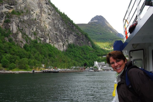 Enjoying a Sightseeing Cruise on Geirangerfjord
