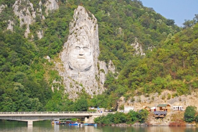 Decebalus Statue Carved into Rock in Romania