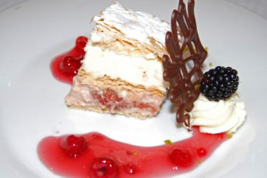 Dessert - Berry Lasagna with White Chocolate Mousse