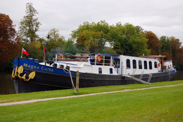 Magna Carta Luxury Canal Barge Cruises the River Thames in England