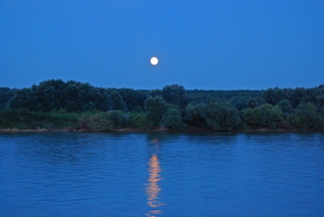 Deck Dining - Full Moon on the Danube