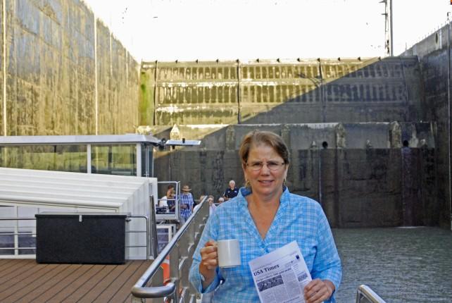 River Princess Going Through Gabcikovo Hydroelectric Lock