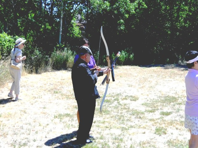 Habeeb Practicing Archery