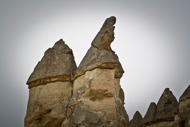 Rock Formations in Goreme Valley, Turkey
