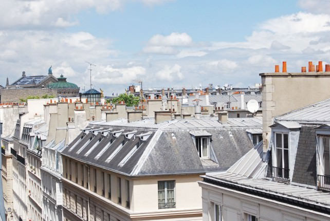 Hotel Cambon - Paris Rooftop Views from 7th Floor Guest Room