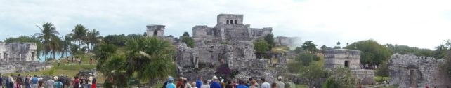 A Panoramic View of a Mayan Village near Cozumel, Mexico
