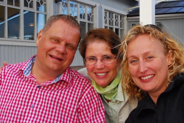 Niclas, Jill and Ulrika at Restaurant Buffalo on Korpo