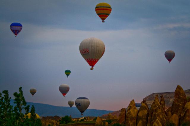 Hot Air Ballooning Over Cappadocia in Turkey