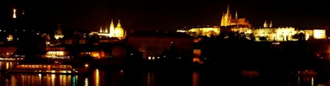 A Panoramic Night Picture of Prague