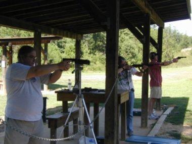 Dan Shooting With a Handgun