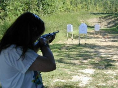 Jeannette Shooting her Ruger 22 Rifle