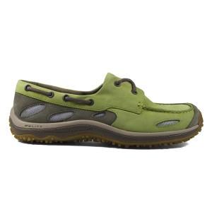 GoLite Footwear Women's SailLite Boat Shoe in Lime/Fossil