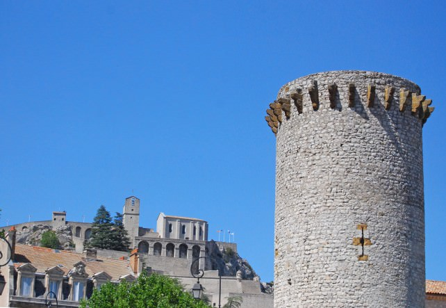 Sisteron in the Haute-Alps of France
