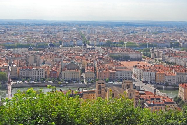 View of Lyon - France's Second Largest City