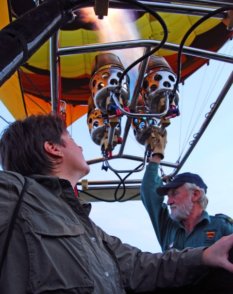 Viv Takes a Hot Air Balloon Ride in South Africa