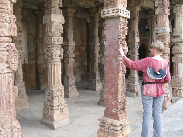 Cherie Thiessen at Qutab Minar in India - Photo by David Dossor