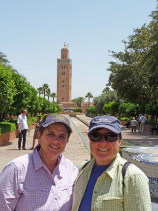 Jill and Viv in Marrakesh