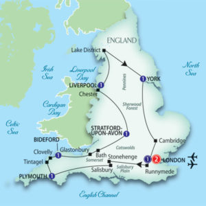 Trafalgar Tours Scenic England Daily Itinerary