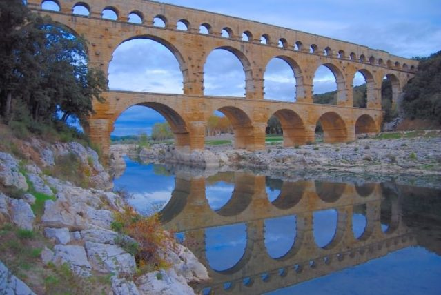 Pont du Gard Aquaduct is a UNESCO World Heritage Site