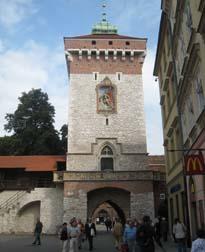 Florianska Gate - built in 1307