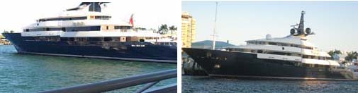 Steven Spielberg's Yacht - My Touch photo on left | Canon camera photo on right