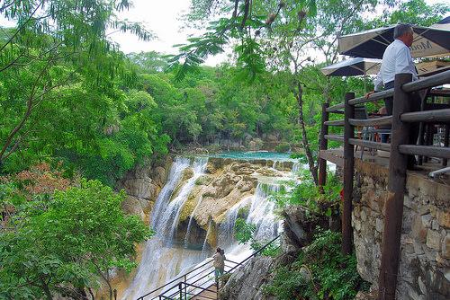 El Salto del Meco Waterfall in Huasteca Potosi