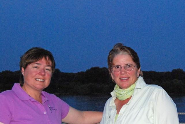 Viv and Jill on Uniworld River Princess