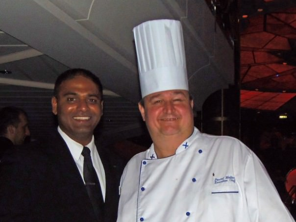 Celebrity Summit Waiter, Vincent, and Executive Chef Pascal Mullier