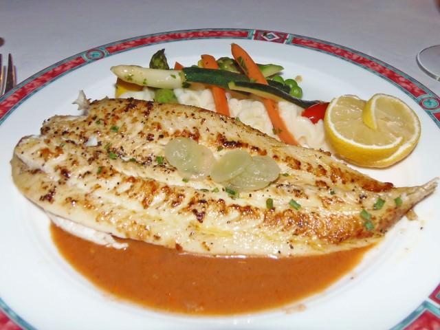 Dover Sole at Celebrity Summit's Normandie Restaurant